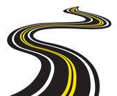Estrada sinuosa — Vetorial Stock