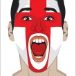 England  fan face — Stock Vector