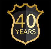 Golden shield years — Stock Vector