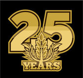 Laurel wreath 25 years — Vector de stock