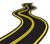 извилистая дорога — Cтоковый вектор