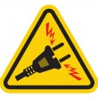 Triangle High Voltage Warning Sign — Stockvektor  #36019251