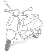 Vector small city motorcycle — Stock Vector