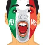 Mexico fan face — Stock Vector #36448695