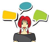 Woman speaking — Stock Vector
