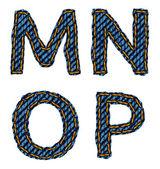 Letra do alfabeto jeans — Vetor de Stock