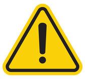 Feux de détresse attention signe avec le symbole de point d'exclamation — Vecteur