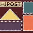 Set of a post stamp — Stock Vector