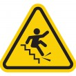Stock Vector: Warning falling off stairs sign