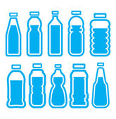 Plastic bottle set — Stock Vector
