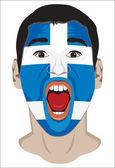 Greek fan face — Stock Vector