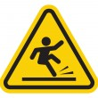Stock Vector: Wet floor warning sign