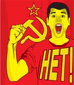 Cartaz soviético da Urss — Vetor de Stock