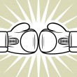 Stock Vector: boxing gloves