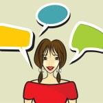 Woman speaking — Stock Vector #37131081