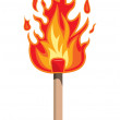 Stock Vector: Fire flame