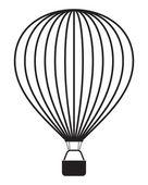 Air balloon isolated on white — Stock Vector