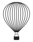 Air balloon isolated on white — Stock Vector