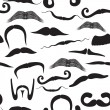 Seamless mustache pattern — Stock Vector