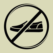 Shoes sign — Stock Vector