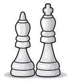 шахматная иллюстрация — Cтоковый вектор
