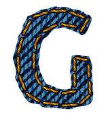 Jeans alphabet letter — Stock Vector