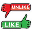 Thumb up and down icons — Stockvector  #38641305