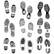 The collection of a imprint soles shoes — Stok Vektör #39946933