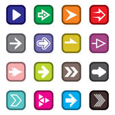 Arrow sign icon set — Vettoriale Stock