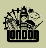 Londra — Vettoriale Stock