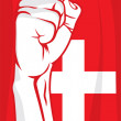 Switzerland fist — Stock Vector