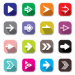Arrow sign icon set — Stock Vector #39997475