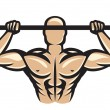 Vector de stock : Bodybuilder