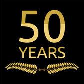 Laurel wreath 50 years — Stock Vector