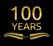Laurel wreath 100 years — Vetorial Stock