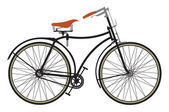 Retro bike — Stock Vector