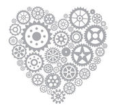 Heart from gears — Stock Vector