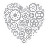 齿轮的心 — 图库矢量图片
