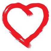 Handwritten red heart vector — Stock Vector