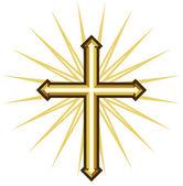 Golden cross — Stock Vector
