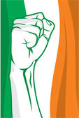 Puño de Irlanda — Vector de stock