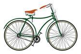ретро велосипед — Cтоковый вектор