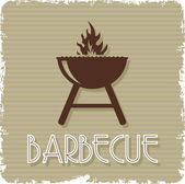 Barbecue grill — Stock Vector