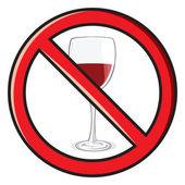 No alcohol sign — Stock Vector