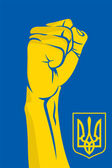 Ukraine fist — Stock Vector