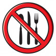 No eating, no food allowed — Stock Vector