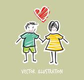 Love card template — Stock Vector