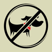 No dogs sign, do not allowed — Stock Vector