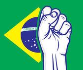 Brasilien knytnäve — Stockvektor