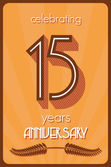 15 års jubileum — Stockvektor